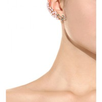 Embellished gold plated ear cuff
