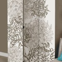 Bota Room Divider Panel Screen with Chrysanthemum Design