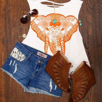 Miya Elephant Crop Top