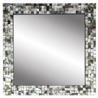 BLACK MOTHER OF PEARL MIRROR | mirrors/wall decor | accessories | Jayson Home & Garden