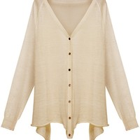 Slouchy Solid Knit Cardigan - OASAP.com