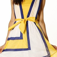 Belle Yellow/Blue Summer Dress