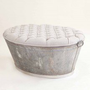 The Linen Upholstered Ottoman Tub ? Seating ? Recreate