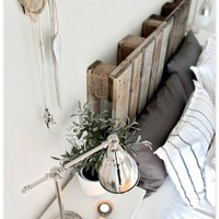 For the Home / DIY Wood Pallet Headboard - Home - Creature Comforts - daily inspiration, style
