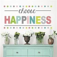 Choose Happiness Decor - Peel N Stick Dorm Room Decorations Inspirational Posters Dorm Decor