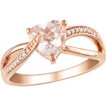 Walmart: 1-1/4 Carat T.G.W. Morganite and Diamond-Accent Pink-Plated Fashion Ring