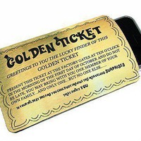 iPhone Case Golden Ticket Humorous Phone Case - Fits iphone itouch and more