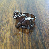 Pewter Elephant Ring, Good Luck Elephant
