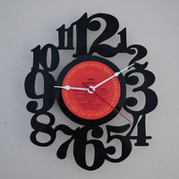 vinyl record clock (artist is Toto)
