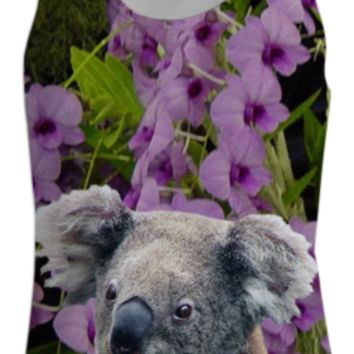 Koala and Cooktown Orchids Tank Top Women created by ErikaKaisersot | Print All Over Me