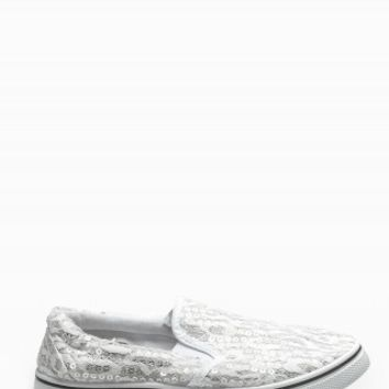 LACE SEQUIN LOAFERS