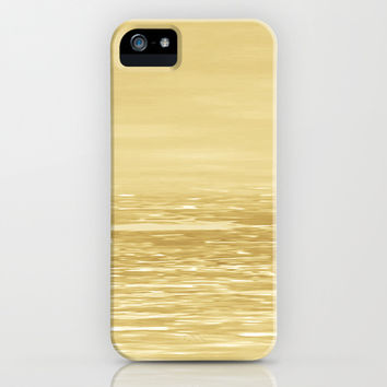 Seascape Gold iPhone & iPod Case by Alice Gosling | Society6