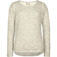 Full Tilt Lace Inset Girls Hachi Knit Hi Low Top Grey Combo  In Sizes