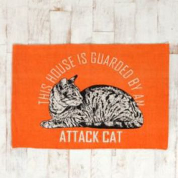 Attack Cat Handmade Rug- Orange 2X3