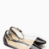 Liliana Black Pointed Toe Ankle Strap Vinyl Flats @ Cicihot Flats Shoes online store:Women's Casual Flats,Sexy Flats,Black Flats,White Flats,Women's Casual Shoes,Summer Shoes,Discount Flats,Cheap Flats,Spring Shoes