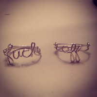 F&ck off ring, wire ring, mature listing