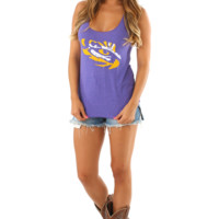 Judith March: Eye Of The Tiger Tank: Purple