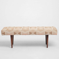 Henderson Printed Upholstered Bench- Multi One