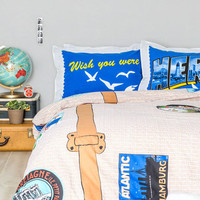Overnight Flight Duvet Cover in Full/Queen | Mod Retro Vintage Decor Accessories | ModCloth.com