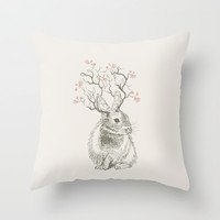 Forest Dream Throw Pillow by rskinner1122