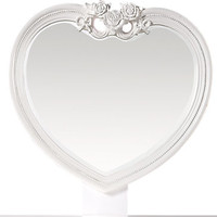 Disney Princess White Heart Mirror