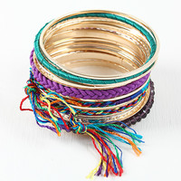Multi Tone Beaded Thread Bangle