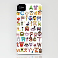 Sesame Street Alphabet iPhone Case by Mike Boon | Society6