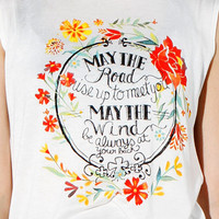 Papaya Clothing Online :: FLORAL GRAPHIC TOP