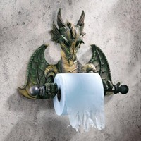 $43.90 Commode Dragon Tyrant Bath Tissue Holder - Bestie.com