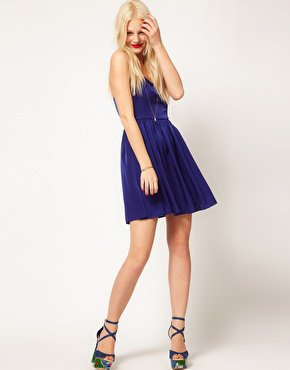 ASOS Skater Dress With Cross Back at asos.com