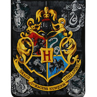 Harry Potter Hogwarts Crest Super Plush Throw