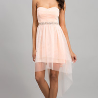 High Low Strapless Prom Dress by Ruby Rox
