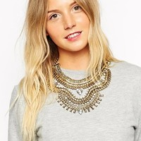New Look Emma Grunge Glam Necklace at asos.com