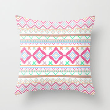 Pattern Throw Pillow by Sjaeℱashion | Society6