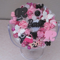 BARBIE AND ME-Mirror Embellished With Upcycled Vintage Buttons And Newer Accent Pieces. Christmas Gift