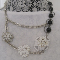 FIELD OF FLOWERS-Necklace Designed With Repurposed Vintage Jewelry