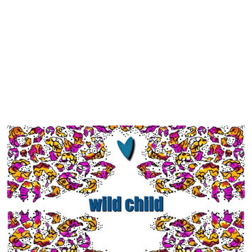 Wild Child Any Occasion Greeting Card Digital Download
