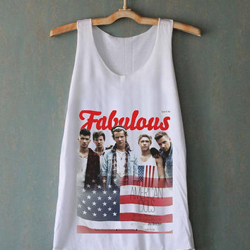 One Direction 1D Fab UK Boy band for tank top mens and tank top girls
