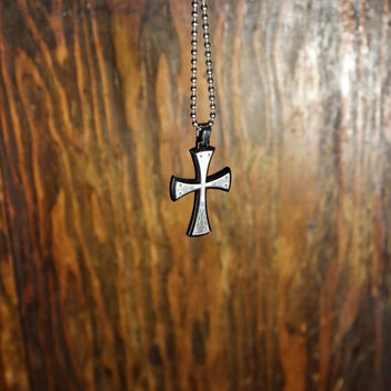 Two-toned Medieval Cross with engraved designs