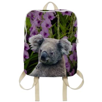 Koala and Cooktown Orchids Backpack created by ErikaKaisersot | Print All Over Me