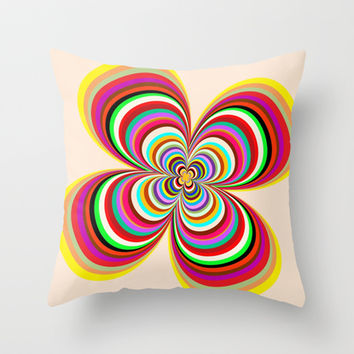 Colors Throw Pillow by Robleedesigns