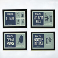 "Portal 2 ""Know Your..."" Posters - Set of 4"