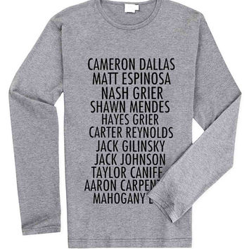 Magcon Name for Long Sleeved Mens and Long Sleeved Girls T Shirt