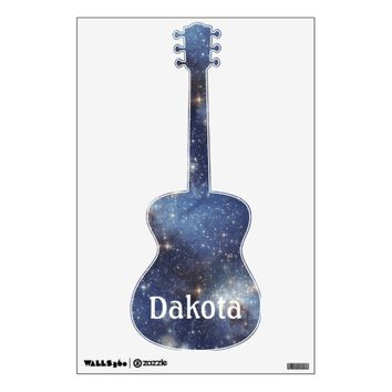 Guitar Starry Space Personalized Wall Decal