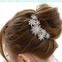 Beautiful Jewelry Flowers Crystal Hair Clips - for hair clip Beauty Tools:Amazon:Jewelry