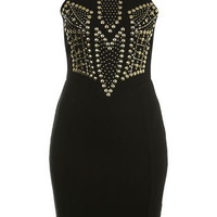 Black Studded Bodycon Dress - Bodycon Dresses  - Dress Shop  - Miss Selfridge US