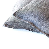 Gray Chambray Organic Lavender Sachets Set of 2 Botanical Pillows Grey