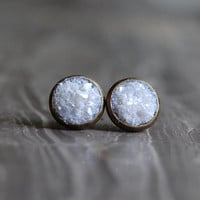 CRUSHED Druzy Crystal Earring Studs