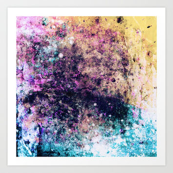 Strung Out On Colors Art Print by Timothy Davis