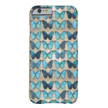 Vintage Blue Butterflies iPhone 6 Case
